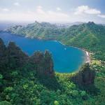 High volcanic island