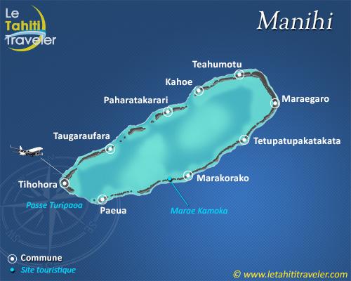 Carte de Manihi