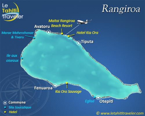 Carte de Rangiroa