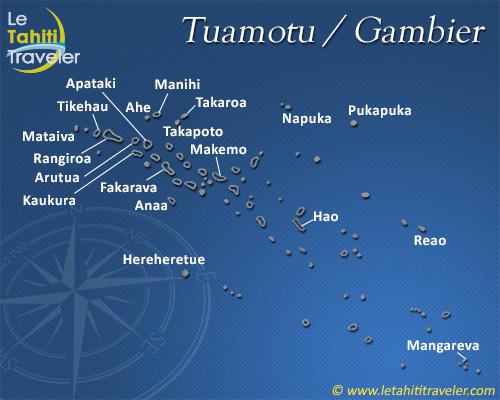 Carte des Tuamotu