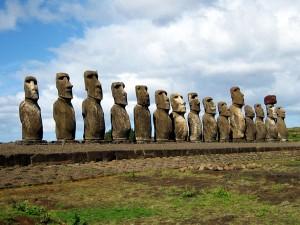 Les moaïs de l'île de Pâques