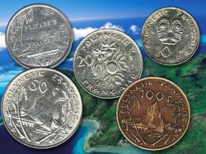 Pièces de monnaie polynésiennes