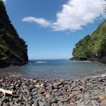 Vue depuis la plage du refuge - Randonnée Te Pari