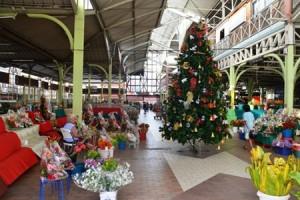 Noël au marché de Papeete