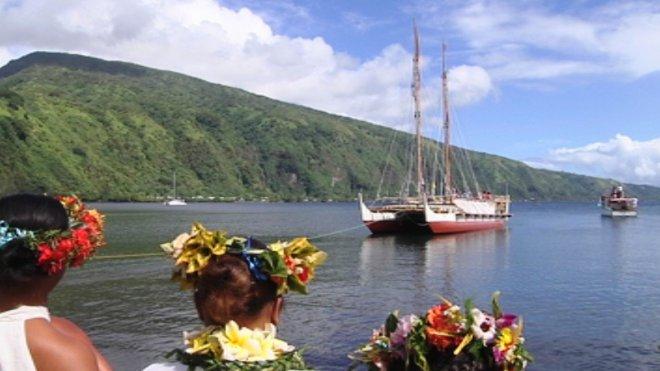 hokulea a Tahiti